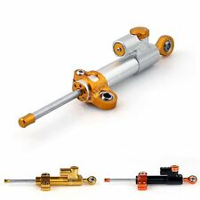 3 Colors Universal Motorcycle CNC Adjustable Steering Damper Stabilizer Top