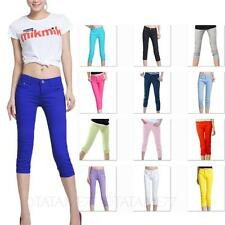Fitted Capris Stretchy Ladies Jeggings Womens Jeans Denim Pants Size 26-30 VANCY
