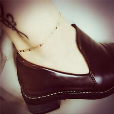 Simple Women Chain Anklet Ankle Bracelet Barefoot Sandal Beach Foot Jewelry FT