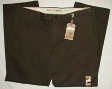 DOCKERS BROWN D3 CLASSIC FIT CORDUROY SOFT KHAKI FLAT FRONT 5 PKT PANTS MEN