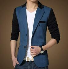 Hot  Stylish Mens Trendy slim fit casual Blazer two Button Black coat jacket #