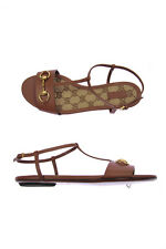 Gucci Sandals Shoes -10% Leather MADE IN ITALY Woman Browns 384829A3N00-2535