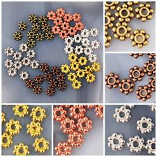 4x1mm Pewter Flower Spacer beads 200pcs Silver/Gold/Copper/Brass,pick your color