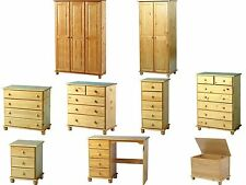 Seconique Sol Antique Pine Bedroom Furniture Wardrobes Drawers Bedside Desk Sets