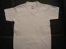 3 NEW SHAKA KIDS PLAIN V-NECK T-SHIRT WHITE BLANK S-XL 3PC
