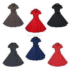 Women 50s Style Audrey Hepburn Rockabilly Evening Swing Vintage Retro Tutu Dress