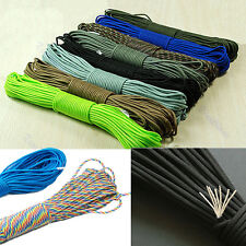 100FT Nylon Desert Parachute Cord Paracord 550 7 Core Strand Outdoor Survival