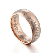"Gold/Rose Gold Plated ""The Lord Of The Ring"" Wedding Band Tungsten Lord Ring"
