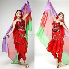New Gradient Veil Shawl Face Scarf Women Dance Belly Bollywood Costume Silk-like