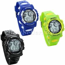 Kids Child Boy Girl Alarm Date LED Multifunction Sports Electronic Wrist Watch