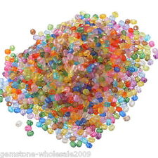 Wholesale Lots Mixed Acrylic Faceted Round Spacer Beads 6mm Dia.