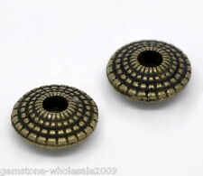 Wholesale Lots Bronze Tone Saucer Spacer Beads 8x4mm
