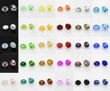 10pcs Faceted Glass Beads Large Hole Rondelle Beads Fit Charms Bracelets 14x8mm