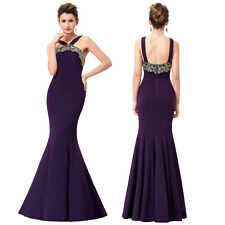 Mermaid Halter Ball Cocktail Party Bridesmaid Dress Evening Formal Prom Gown