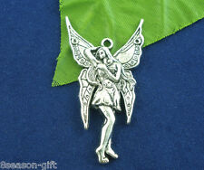 Gift Wholesale Silver Tone Fairy Charms Pendants 47x25mm