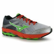 Mizuno Wave Elevation Running Shoes Mens White/Green Fitness Trainers Sneakers
