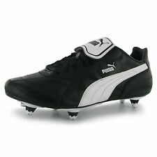 Puma Esito Classic Soft Ground Mens Football Boots Black/White Soccer Footwear