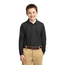 Port Authority Youth Long Sleeve Silk Touch Polo-Y500LS