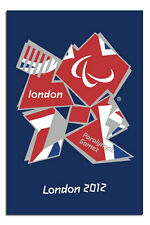 London 2012 Paralympics Union Jack Poster New - Laminated Available