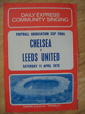 1970 FA CUP FINAL SONG SHEET,CHELSEA V LEEDS UTD