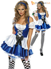Ladies Fever Alice Costume Adults Fairytale Fancy Dress Womens Book Week Outfit