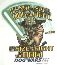 Big Dogs Tee Shirt Star Wars White Yoda Not Size of Dog in Fight L XL YoDog NEW