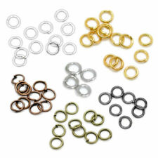Silver Gold Black Copper Bronze Plated Open Split Jump Rings Connector Findings