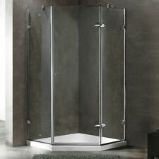 VIGO 40 x 40 Frameless Neo-Angle 3/8-inch Clear Shower Enclosure with Low-Profil