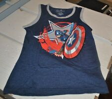 Marvel Captain America Age of Ultron Kids Blue Tank Top / Mad Engine / Iron Man