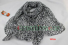 Fashion Women's Leopard Pattern Print Soft Long Scarf Wrap Shawl Voile Stole New