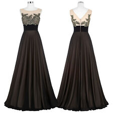 Formal Long Bridesmaids Wedding Chiffon Ball Gown Evening Prom Party Dress Sexy