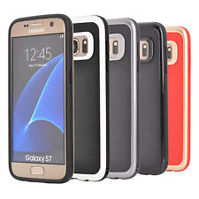 Protective TPU PC Hybrid Gel Case Cover for Samsung Galaxy S7 + Protector