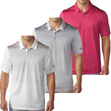 Adidas Golf 2016 Mens ClimaCool Ombre Performance Tech Stripe Polo Shirt