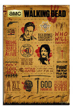 The Walking Dead Infographic Poster New - Maxi Size 36 x 24 Inch