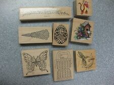 YOUR CHOICE ONE RUBBER STAMP-PREOWNED-TIGGER,BIRDHOUSE,BUTTERFLY,HUMMINGBIRD+
