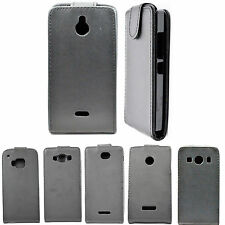 Magnetic Black PU Leather Case Flip Hard Skin Cover Casse For Sony HTC LG Phones