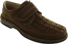 Ara Guido Men's Cafe Cut Out Interwoven Tan Vel Leather Comfort Shoes New