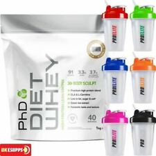 PhD Nutrition Diet Whey Protein 1kg 1000g 2.2lb - All Flavours + Shaker 400ml