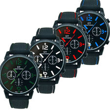 Fashion Mens Watches Stainless Steel Sport Rubber Cool Analog Quartz Wrist Watch