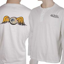 Von Dutch men's T-shirt shirt Long Sleeve White Size XL - XXL
