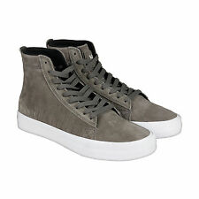 Supra Belmont High Mens Grey Leather High Top Lace Up Sneakers Shoes