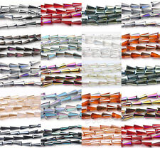 New 10Pcs Faceted Glass Crystal Point Teardrop Pendant Bead 16x8x4mm More Color