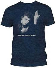 T-Shirts Sizes S-2XL New Authentic David Bowie Heroes Heathered Tee Shirt