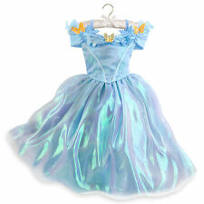 Disney Store Princess Cinderella Halloween Deluxe Costume Dress Girl 5/6 7/8