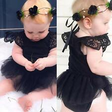 Summer Newborn Kids Baby Girl Romper Jumpsuit Bodysuit Tutu Dress Clothes Outfit