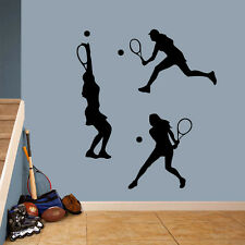 Tennis Girls Large Wall Decal Set