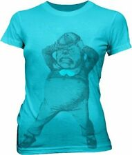 Juniors Turquoise Book Movie Alice In Wonderland Tweedle Dee Dum T-shirt Tee