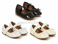 New Girls Black Ivory White Dress Shoes Mary Jane Baby Toddler Youth Kids 6