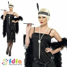 20s RAZZLE GATSBY CHARLSTON FLAPPER -UK 8-22 - womens ladies fancy dress costume
