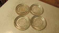 4 Old  Glass Furniture Coasters  Lot C